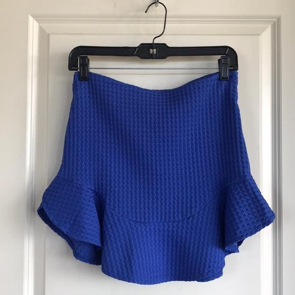 Zara Dresses & Skirts - Zara blue mini skirt